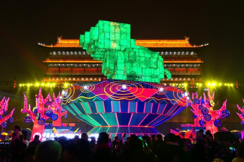 2019 Chińskich nowy rok w Xian zdjęcie royalty free