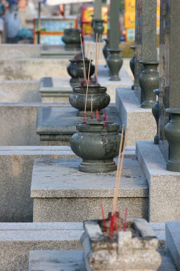 chińczycy cmentarz obraz stock