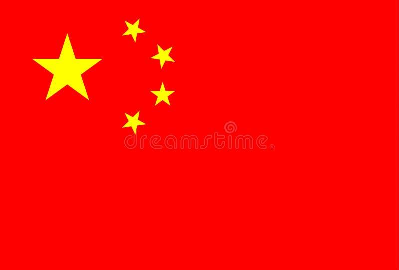 chińczycy flagę ilustracji