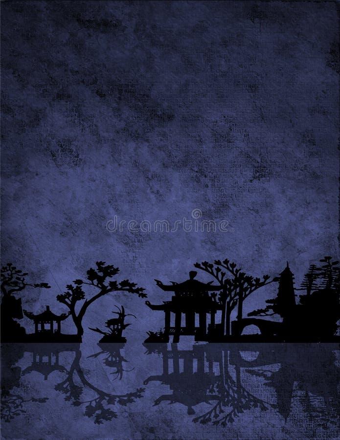 chińczycy niebieski ilustracji