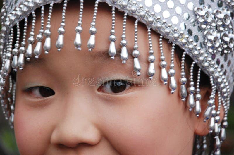 chińczycy oczy dziewczyny fotografia stock