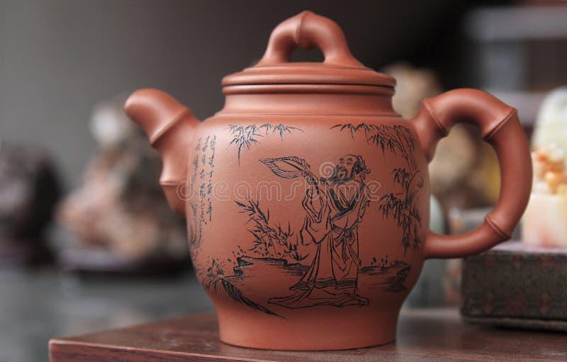 Chińczycy Postawił Herbaty. Fotografia Royalty Free