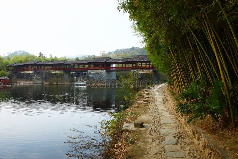 Chińczycy zakrywający mosty, tęczy qiao obrazy royalty free
