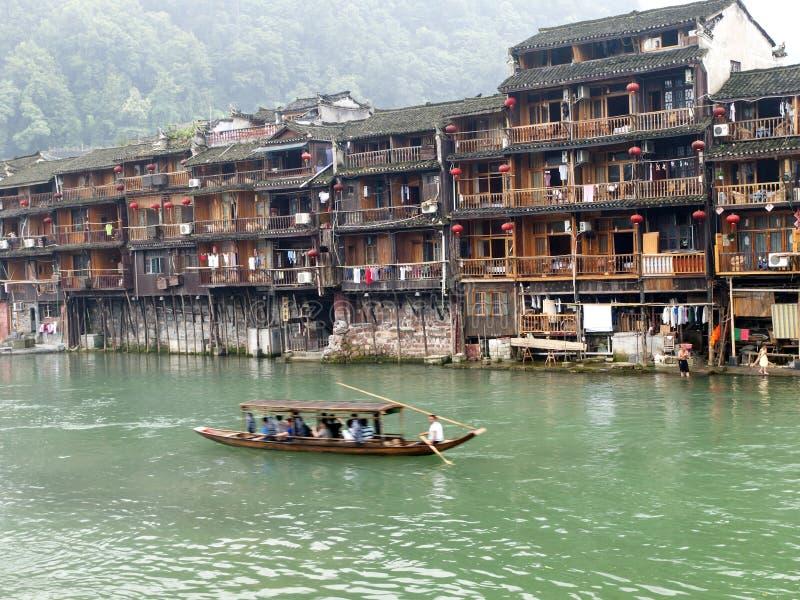 Chińczyków domy w Fenghuang, Chiny obrazy stock