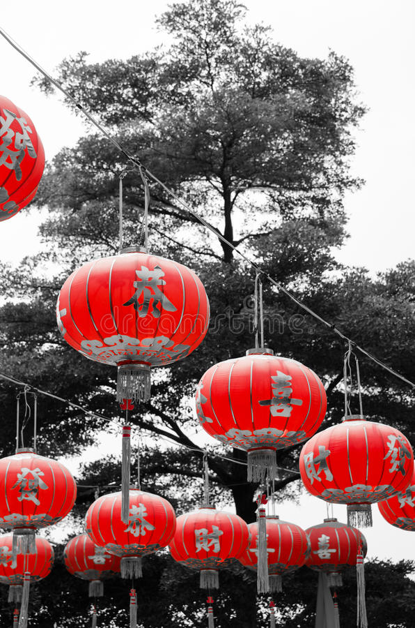 2 chińczyków lampion obrazy royalty free