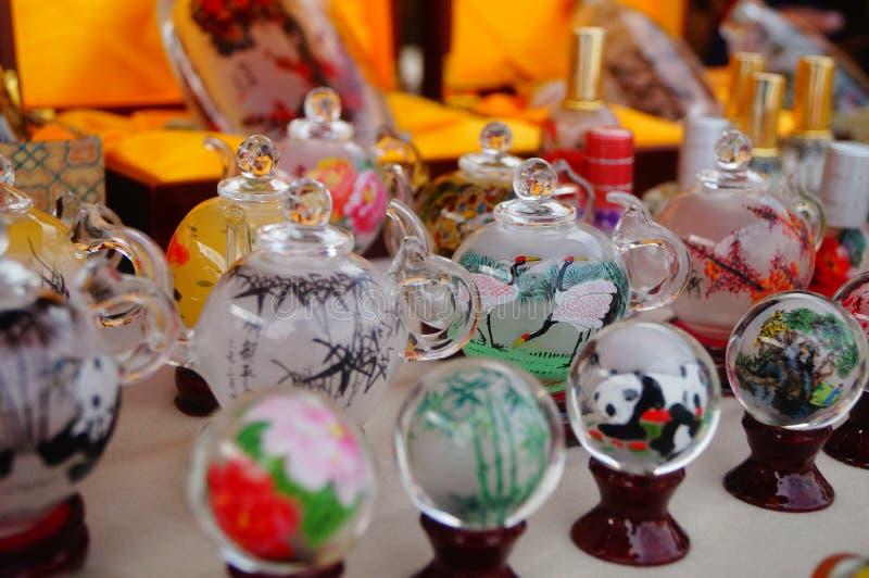 Chińczyk cechy rzemioseł tabaki butelki obrazy stock