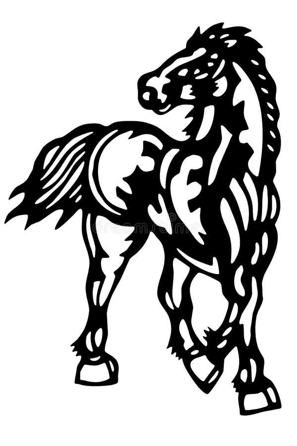 Chińczyk ciący koń ilustracja wektor