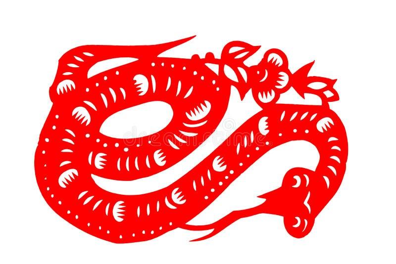 Chińczyk ciący wąż zdjęcie stock