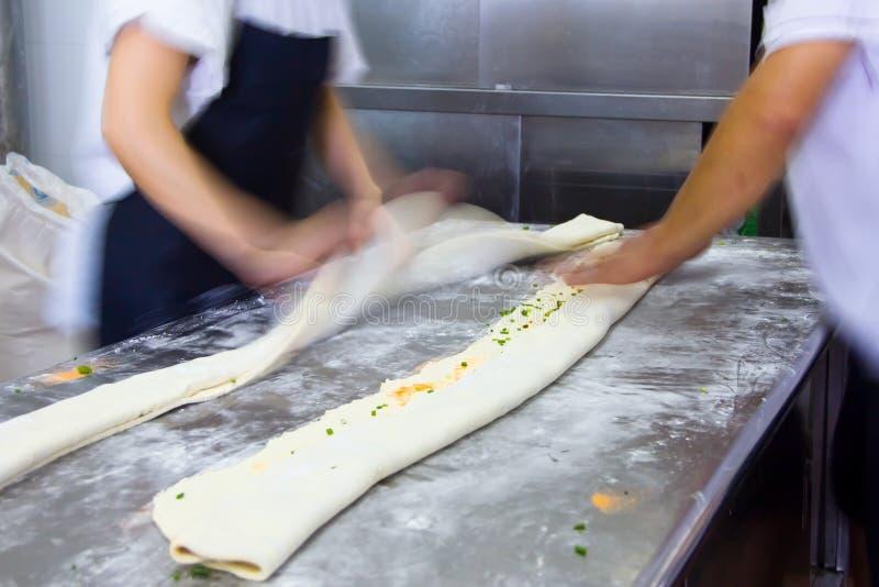 Chińczyk dekatyzował chlebowego robić, kuchnia chińska restauracja obrazy royalty free