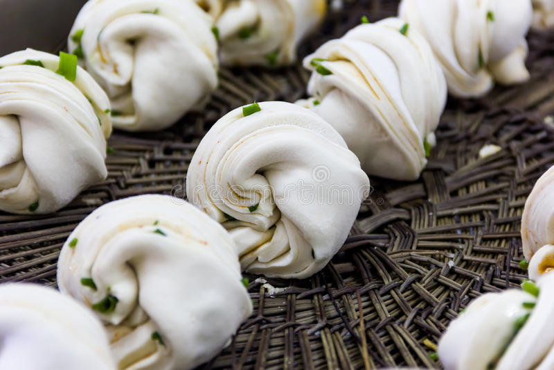 Chińczyk dekatyzował chlebowego robić, kuchnia chińska restauracja zdjęcie royalty free