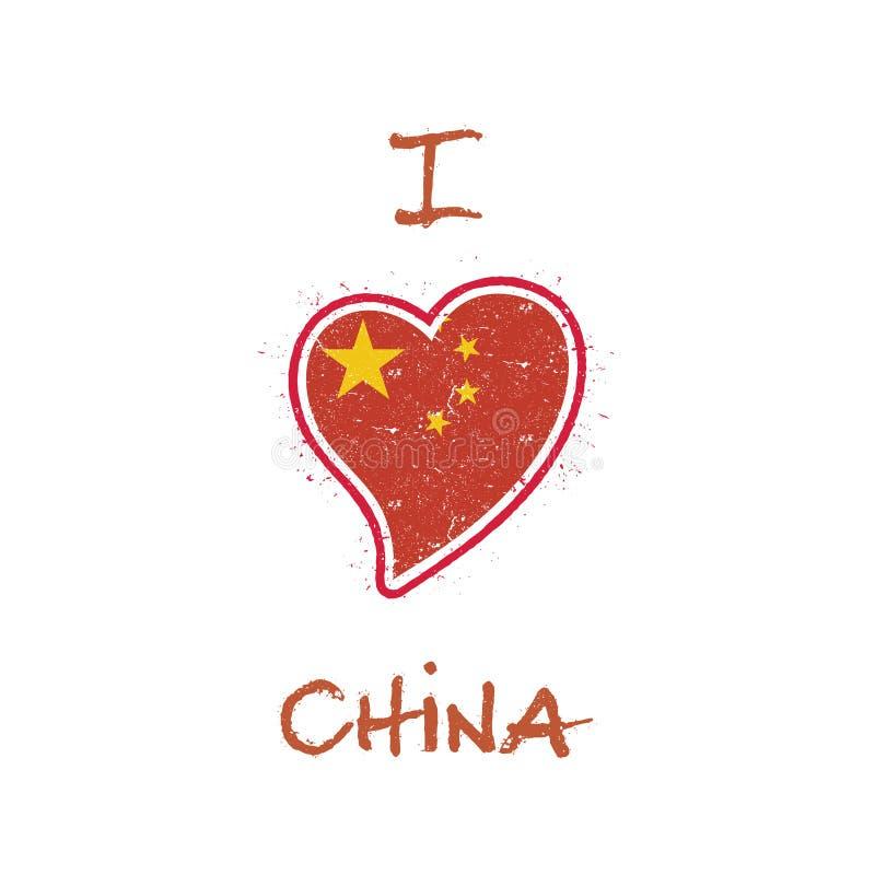 Chińczyk koszulki chorągwiany patriotyczny projekt ilustracja wektor