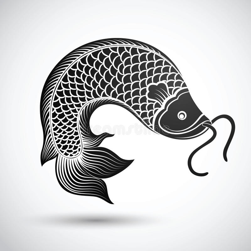 Chińczyk ryba royalty ilustracja