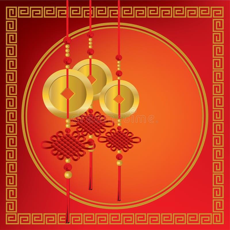 chińczyk ukuwać nazwę złoto ilustracja wektor