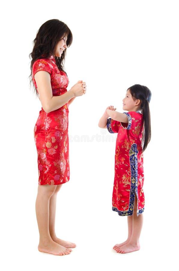 Chińczyka dziecko i rodzic zdjęcie royalty free