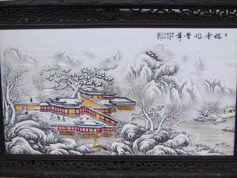 Chińczyka Gufeng Ruixue Zhaofeng rok Maluje HD fotografię zdjęcia stock