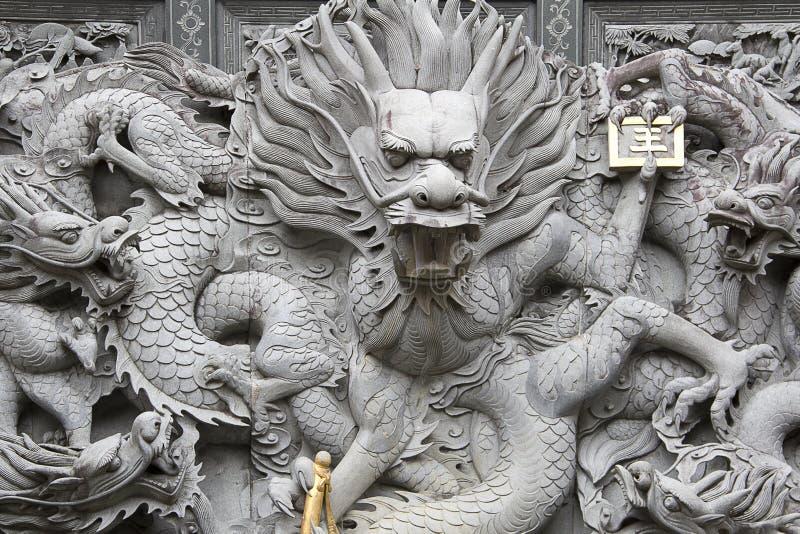 Chińczyka Kamienny cyzelowanie fotografia royalty free