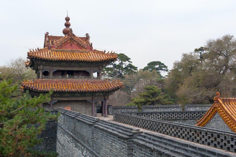 Chińczyka kasztelu wierza zdjęcie royalty free