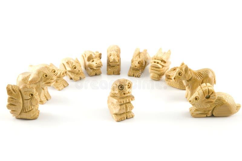 Chińczyka małpy znaka woodcarving