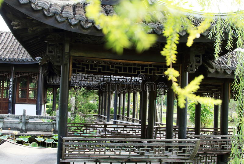 Chińczyka ogród, Chińska architektura obraz royalty free