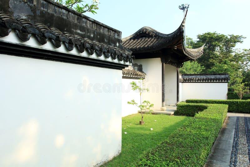 Chińczyka ogród, Chińska architektura zdjęcie royalty free