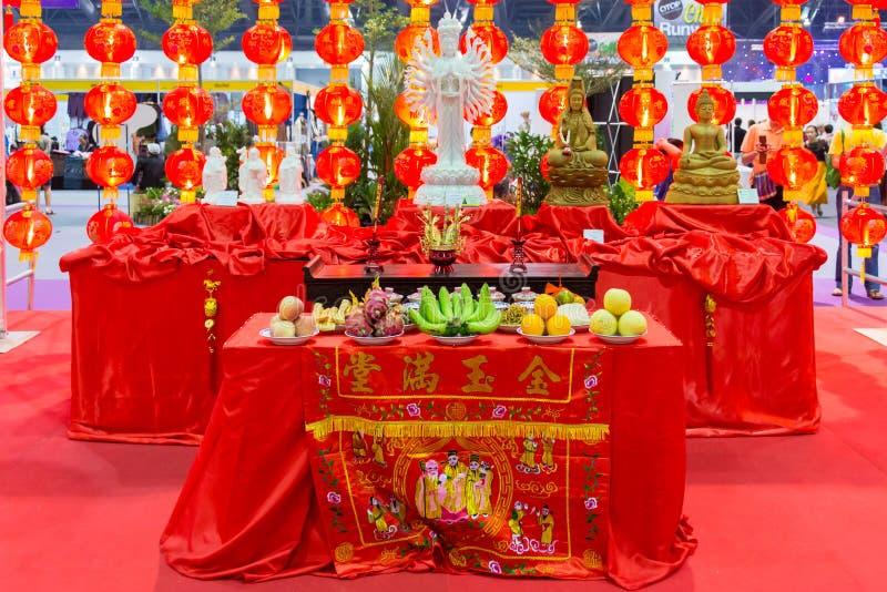 Chińczyka stołu set obrazy royalty free