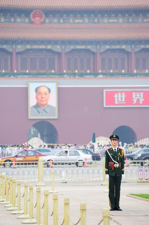 Chińczyka strażnik fotografia royalty free