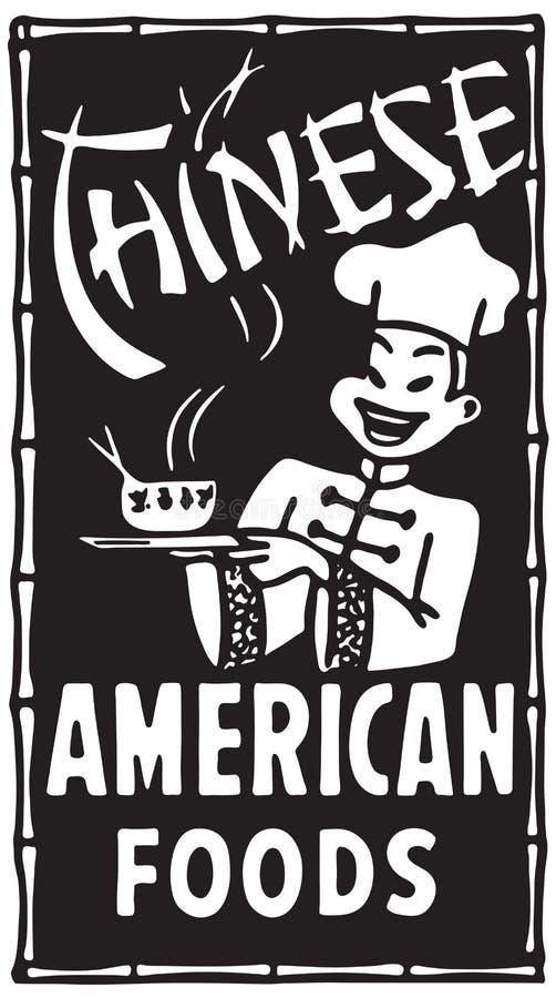 Chińscy Amerykańscy Foods ilustracja wektor
