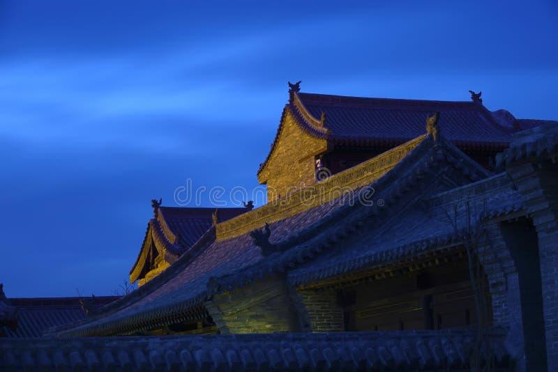 chińscy antyczni budynki zdjęcia royalty free