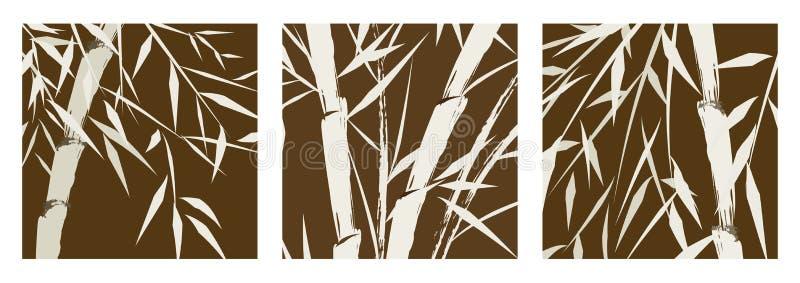 chińscy bambusowi projektów drzewa ilustracji