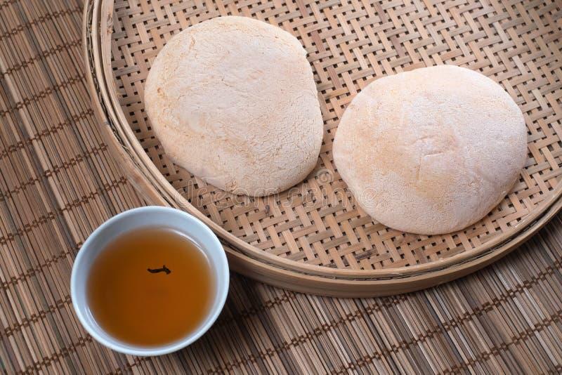 Chińscy Białego cukieru miękkiej części torty zdjęcie royalty free