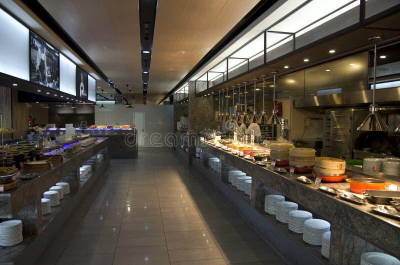Chińscy 4 bufeta śniadania gwiazdowy hotel zdjęcie royalty free