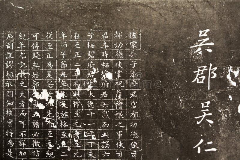 Chińscy charaktery rzeźbiący obrazy stock