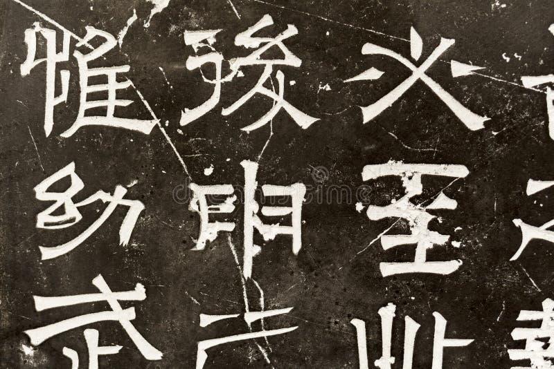 Chińscy charaktery rzeźbiący obrazy royalty free