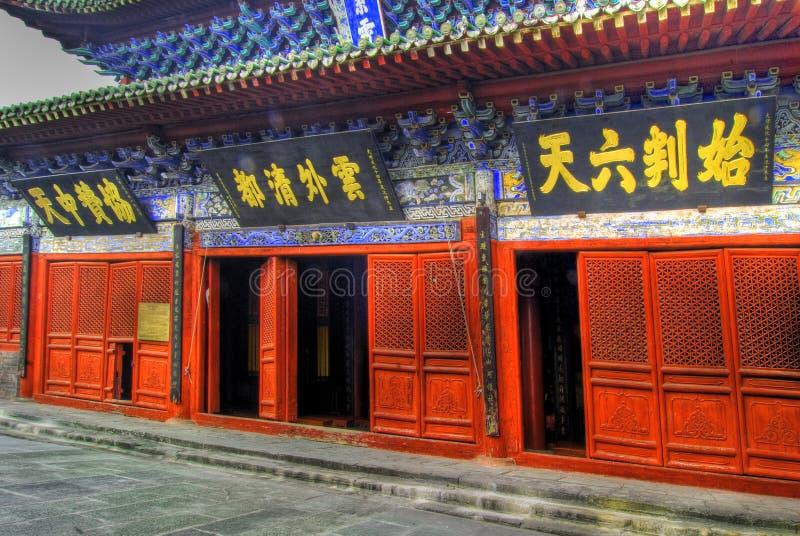 chińscy drzwi temple obrazy stock