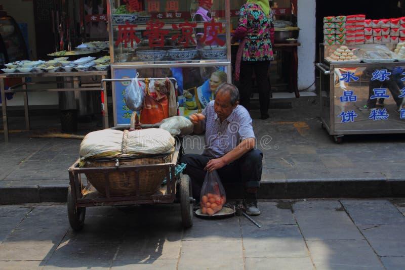 Chińscy małych biznesów właściciele zdjęcie royalty free
