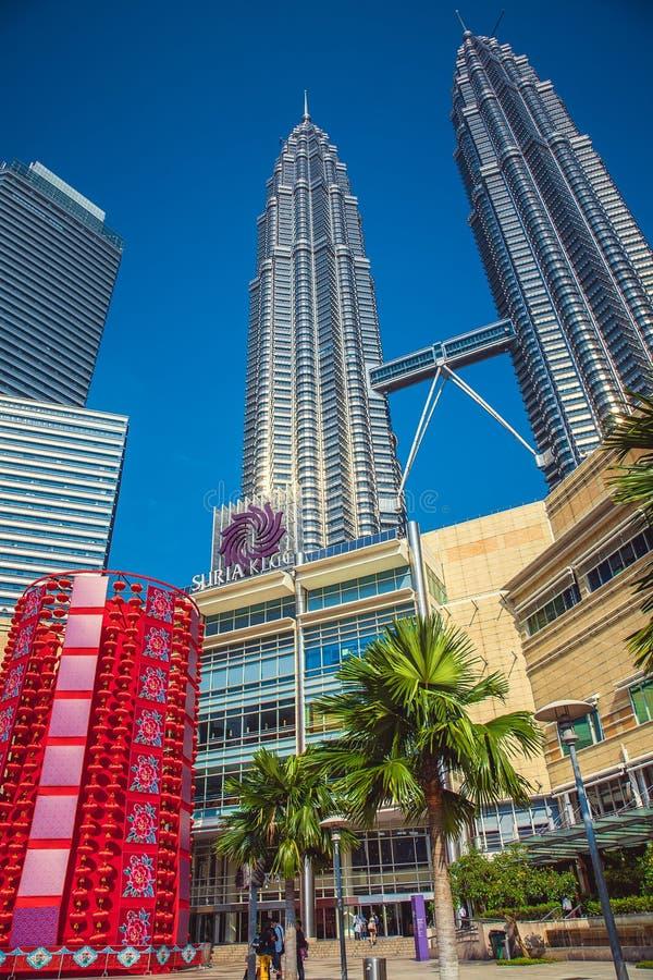 Chińscy nowego roku ` s lampiony w centrum miasta kuala Lumpur Malezja zdjęcia royalty free
