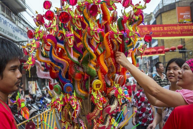 Chińscy nowy rok świętowania Bangkok, Tajlandia - obrazy royalty free