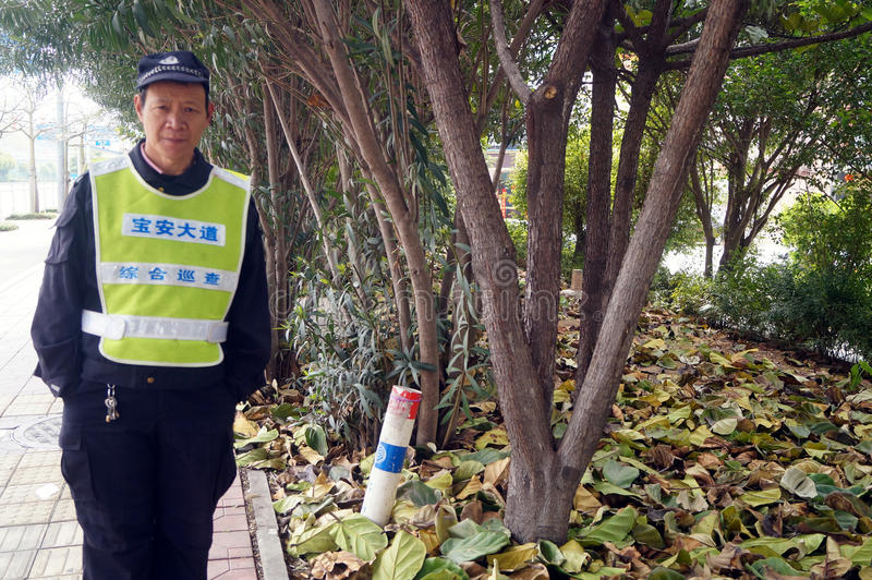 Chińscy pracownicy ochrony obrazy royalty free