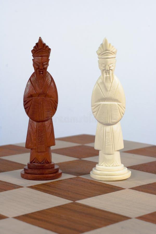 chińscy szachowi króla odłogowania fotografia stock