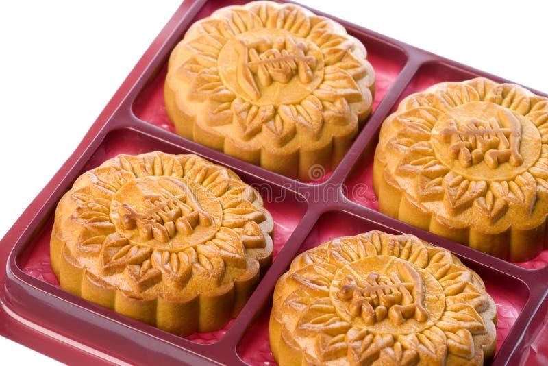 chińską ciastek księżyca fotografia royalty free