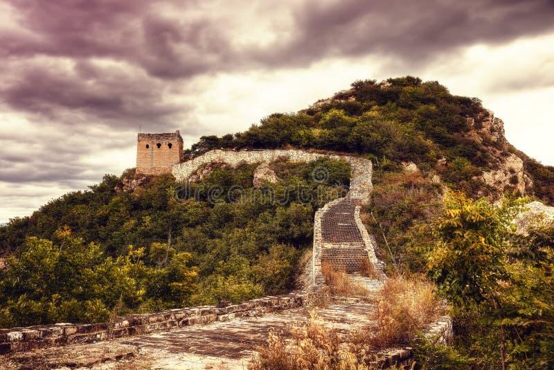 Chińska ściana Pekin Chiny zdjęcie royalty free