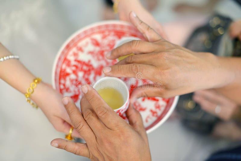 Chińska ślubna herbaciana ceremonia obraz stock