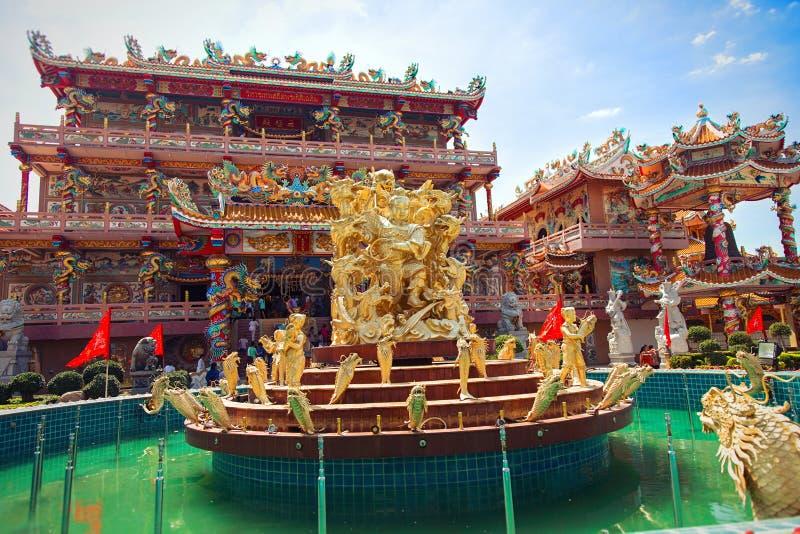 Chińska świątynia i Naja bogini w Chonburi Na wschód od Tajlandia, zdjęcia stock