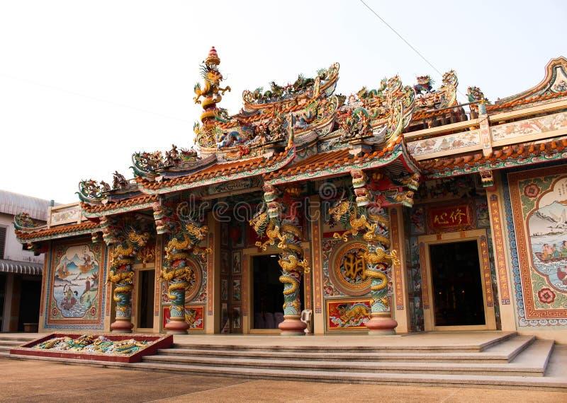 Chińska świątynia w prachinburi prowinci obrazy stock