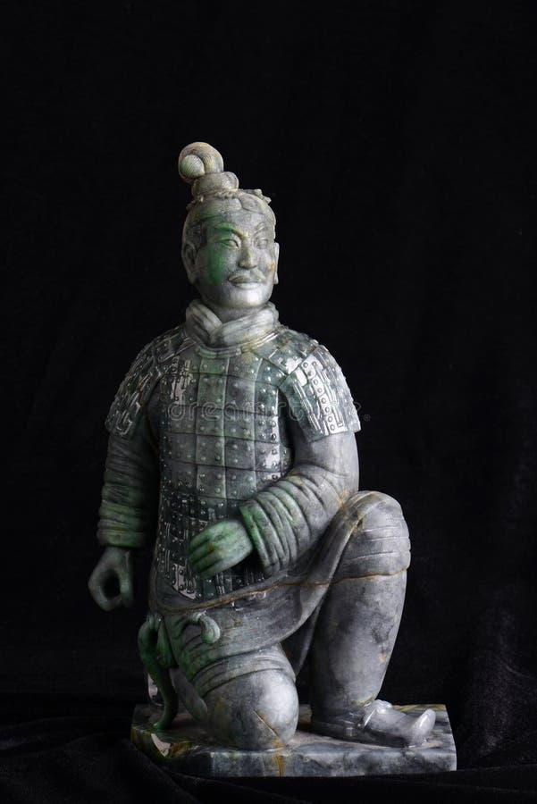 Chińska antyczna chabeta cyzelowania sztuka Cotta wojownik zdjęcia royalty free