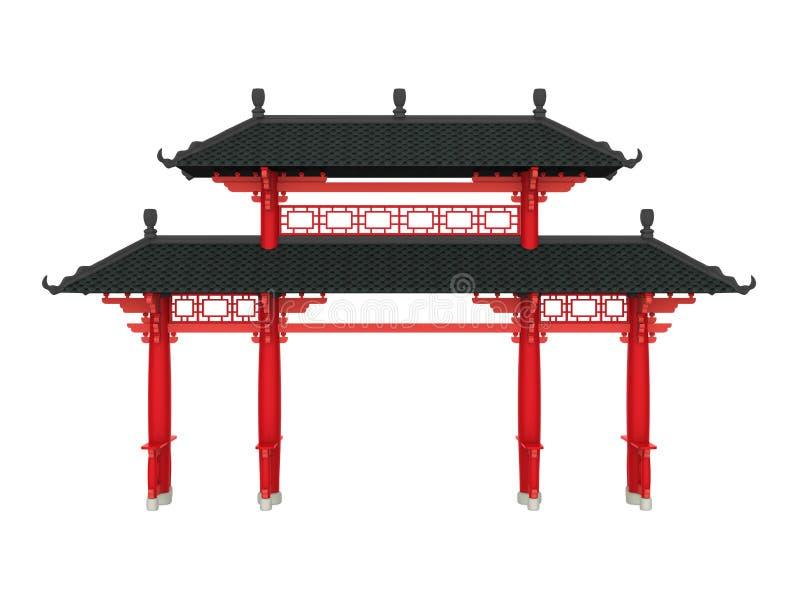 Chińska brama Odizolowywająca royalty ilustracja