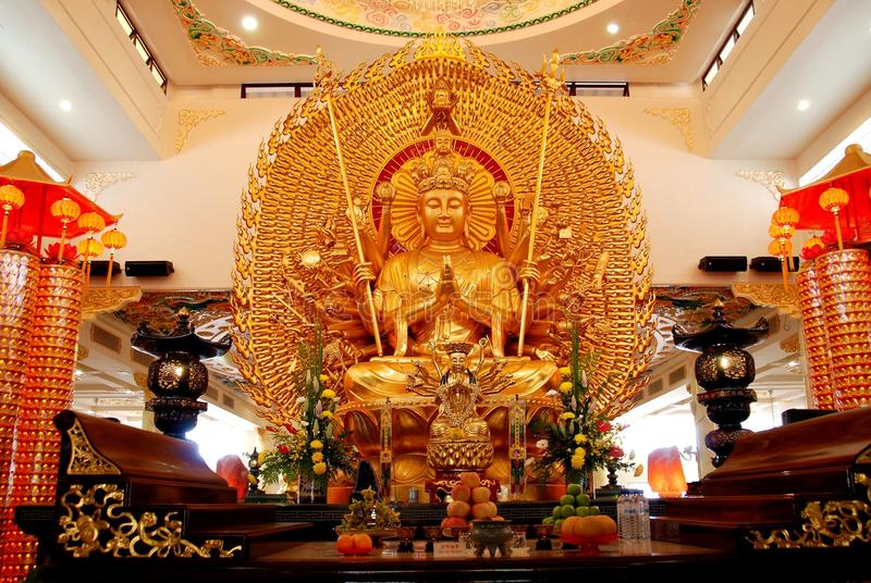 chińska Buddha świątynia Kuala Lumpur fotografia stock