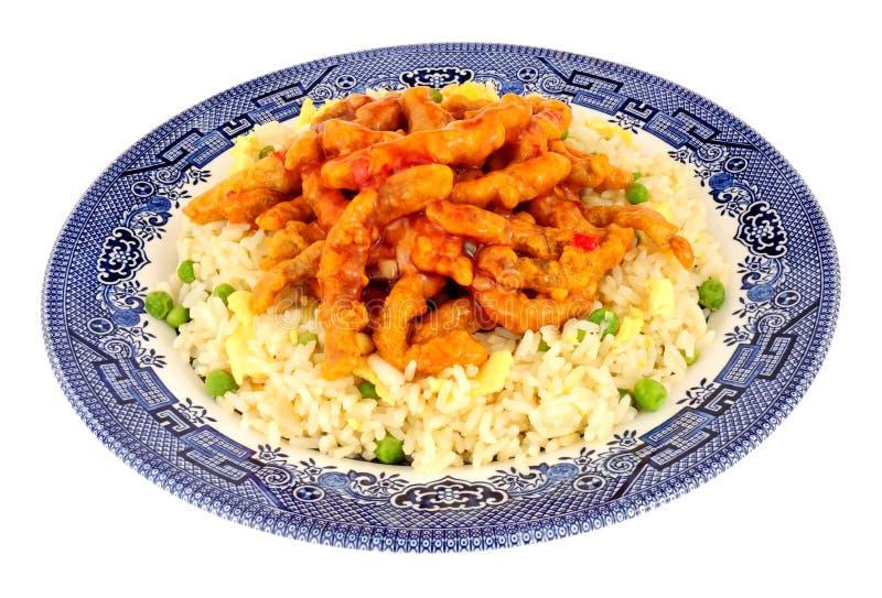 Chińska Crispy chili wołowina Z Jajecznym Rice fotografia royalty free