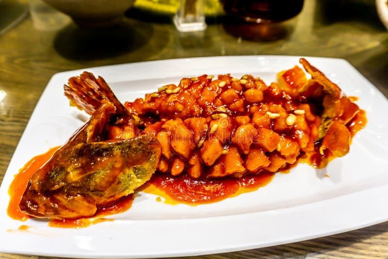 Chińska cukierki podśmietania ryba zdjęcie royalty free