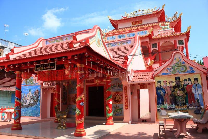 chińska czerwona świątynia zdjęcia royalty free